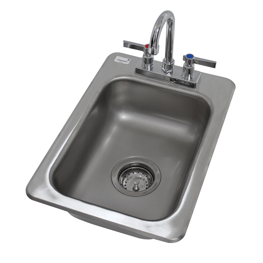 "Advance Tabco DI-1-5 (1) Compartment Drop-in Sink - 10"" x 14"", Drain Included"