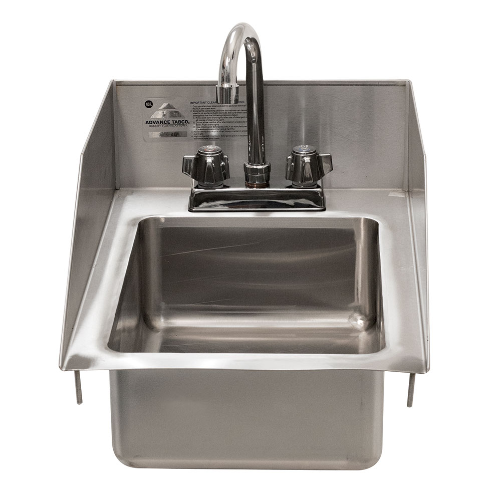 """Advance Tabco DI-1-5SP-EC-X 13"""" 1-Compartment Sink w/ 10"""" x 14"""" x 5"""" Bowl"""