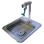 "Advance Tabco DI-1-9 Drop-In Filler Station - (1) 9x9x3"" Bowl, 20-ga 304 Stainless"