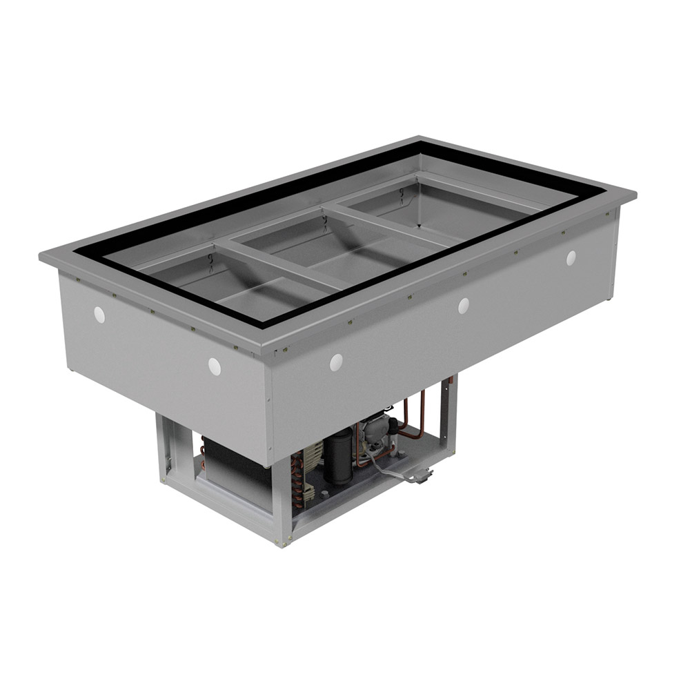 "Advance Tabco DIRCP-3 47"" Drop-In Refrigerator w/ (3) Pan Capacity, Cold Wall Cooled, 115v"