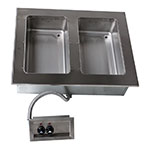 "Advance Tabco DISW-2-120 31-13/16"" Drop-In Hot Food 2-Well Unit w/ Infinite Control, 120 V"