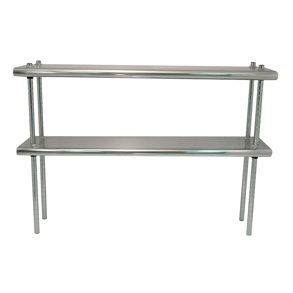 "Advance Tabco DS-12-48 Table Mount Shelf - Double Deck, 12x48"", 18-ga 430-Stainless"