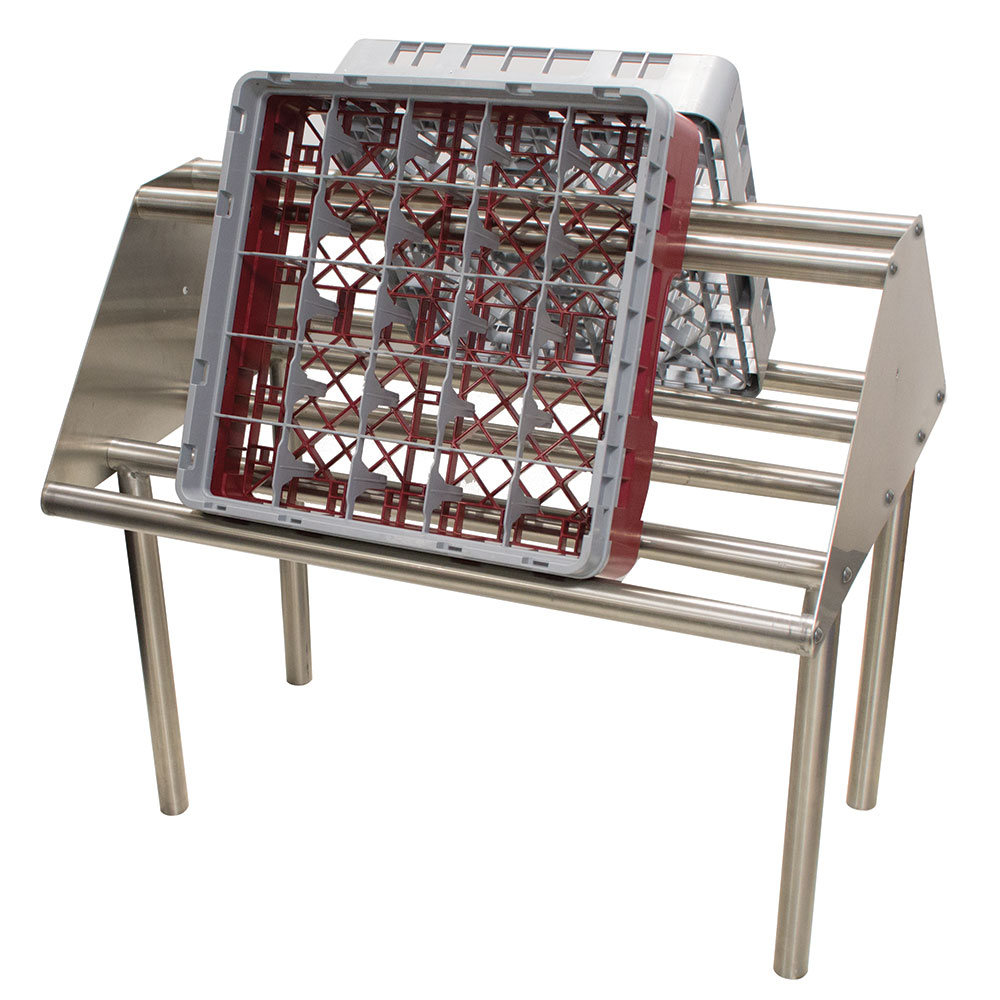 Advance Tabco DTA-79 Double Sided Slant Tubular Rack Sorting - Table Mount