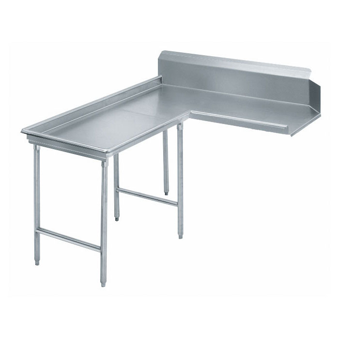 "Advance Tabco DTC-G30-48L 47"" Dishtable - Island Style, Stainless Legs, R-L, 14-ga 304-Stainless"
