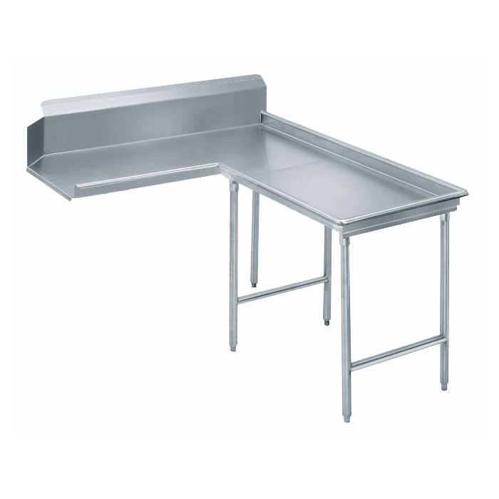 "Advance Tabco DTC-G70-84R 83"" Dishtable - Island Style, Crossrails, Stainless Legs, L-R, 14-ga 304-Stainless"