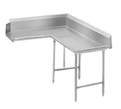 Advance Tabco DTC-K70-84R 83-in Korner Clean Dishtable w/ Crossrails Left to Right 16-Ga. Stainless Restaurant Supply
