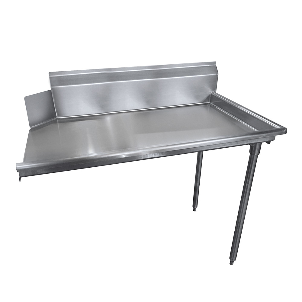 "Advance Tabco DTC-S30-144R Straight Dishtable - L-R Operation, Stainless Legs, 143x30x34"", 14-ga 304-Stainless"