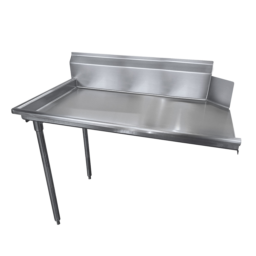 "Advance Tabco DTCS3036L Straight Dishtable - R-L Operation, Stainless Legs, 35x30x34"", 14-ga 304-Stainless"