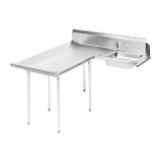 Advance Tabco DTS-D60-96L 95-in Soil Dishtable, Left to Right, 16-Ga. Stainless