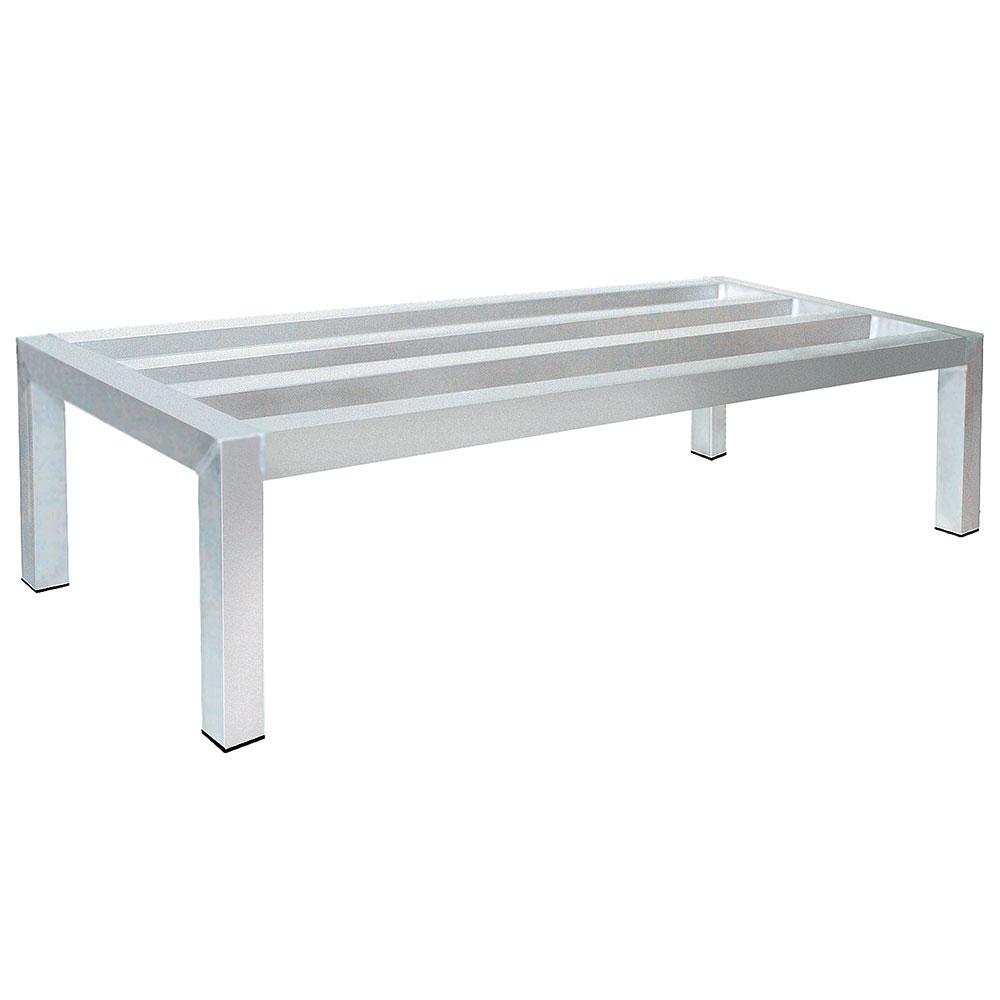 "Advance Tabco DUN-2060C Mobile Square Bar Dunnage Rack - 2400-lb Capacity, 1-Tier, 20x60x9.25"", Aluminum"