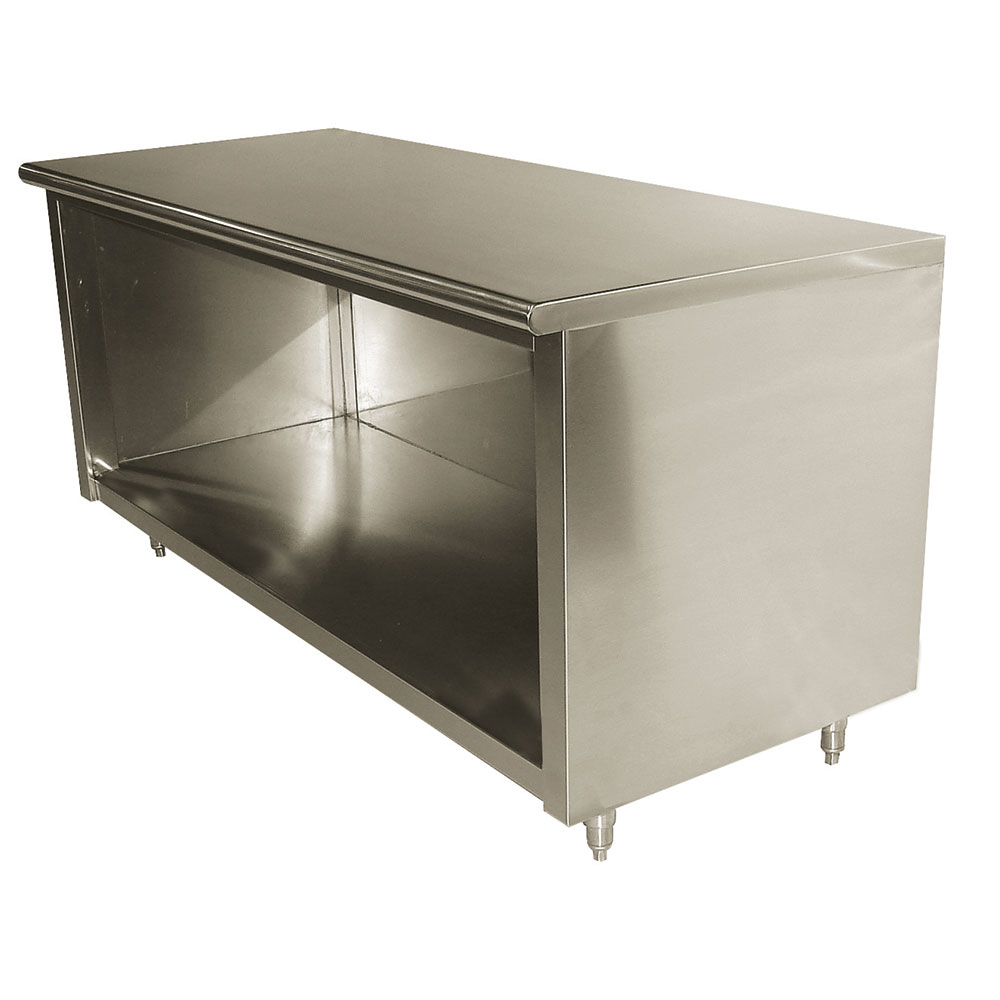 """Advance Tabco EBSS306 72"""" Enclosed Work Table w/ Open Base, 30""""D"""