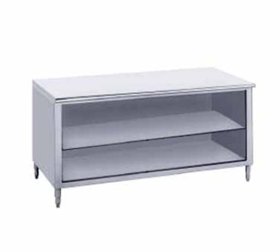 Advance Tabco EB-SS-249M 108-in Work Table Open Cabinet w/ Shelf 24-in Wide Stainless Restaurant Supply
