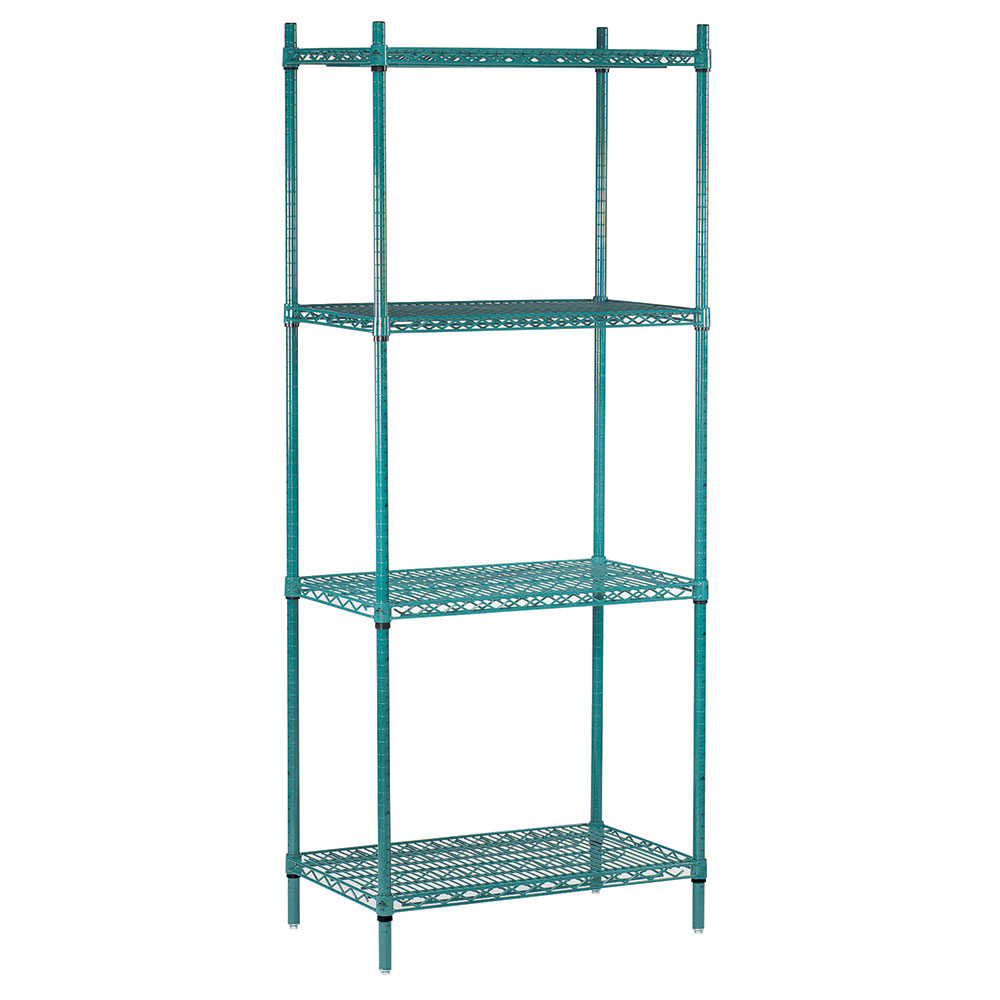 Advance Tabco EGG-1442 Epoxy Coated Wire Shelving Unit w/ (4) Levels, 14x42x74""