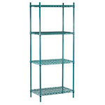 Advance Tabco EGG-1448 Epoxy Coated Wire Shelving Unit w/ (4) Levels, 17x48x74""
