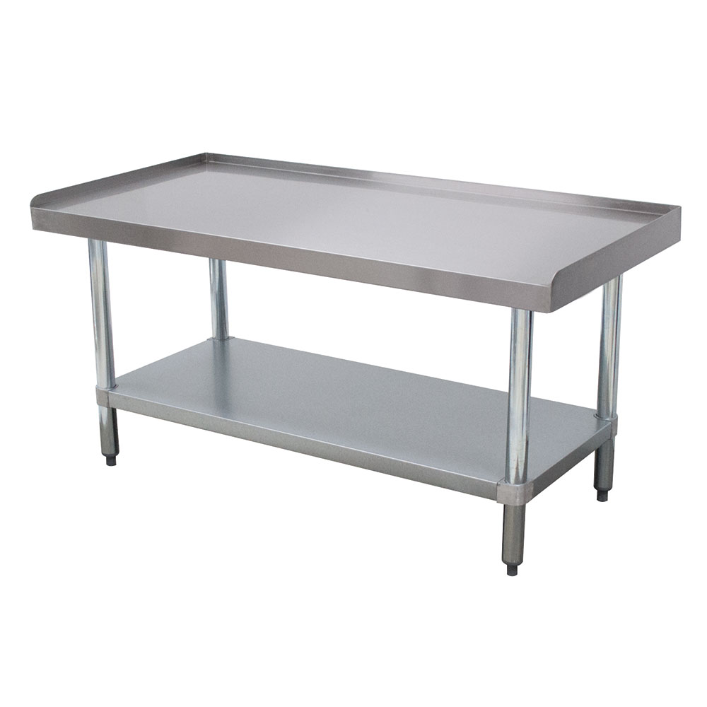 "Advance Tabco EG-LG-302 Equipment Stand - Adjustable Undershelf & Galvanized Legs, 30x24x24"" Stainless"