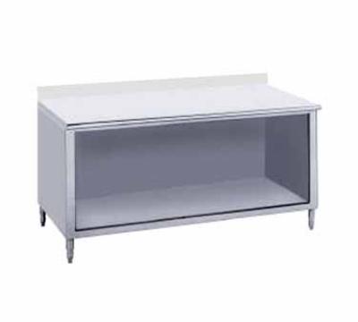 Advance Tabco EK-SS-308 Work Table 30 x 96 in Open Cabinet Base 5 in Backsplash 14/304 SS Restaurant Supply