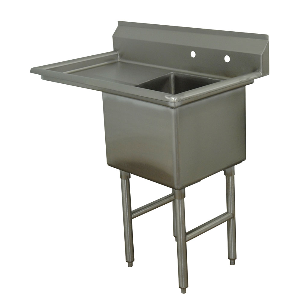 "Advance Tabco FC-1-1620-18L 36.5"" 1-Compartment Sink w/ 16""L x 20""W Bowl, 14"" Deep"