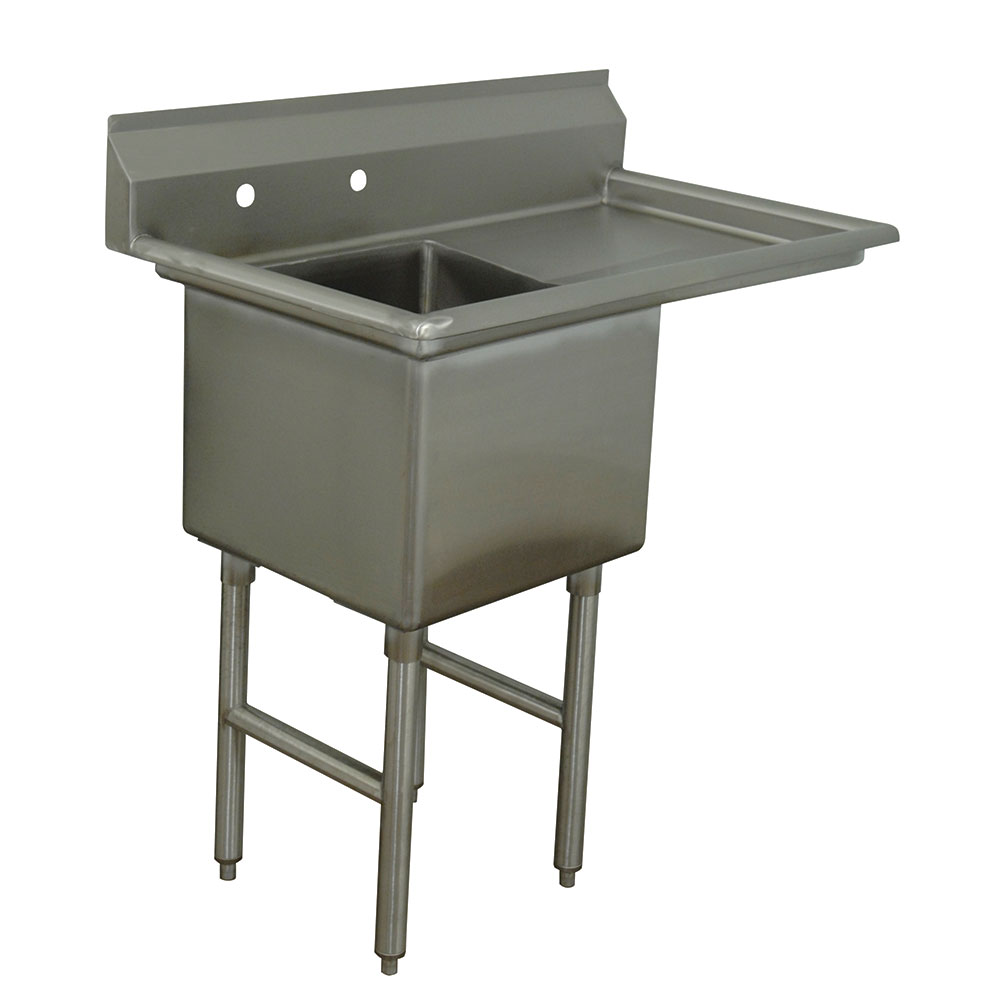 "Advance Tabco FC-1-1620-18R Fabricated Sink - 18"" Right Drainboard, 16x20x14"" Bowl, Stainless Steel, LR"