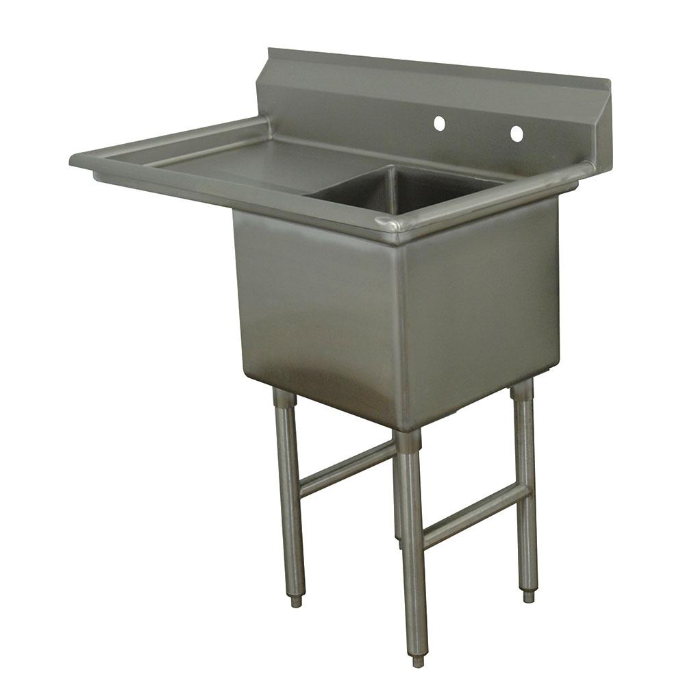 """Advance Tabco FC-1-2424-18L 44.5"""" 1-Compartment Sink w/ 24""""L x 24""""W Bowl, 14"""" Deep"""