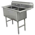 "Advance Tabco FC-2-1515 35"" 2-Compartment Sink w/ 15""L x 15""W Bowl, 14"" Deep"