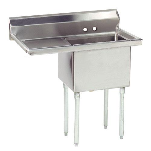 "Advance Tabco FE-1-1620-18L 1-Compartment Sink w/ 16""W x 20""L Bowl, 12"" Deep"