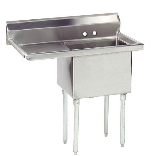 """Advance Tabco FE-1-1812-18L-X 54"""" 1-Compartment Sink w/ 18""""L x 18""""W Bowl, 12"""" Deep"""