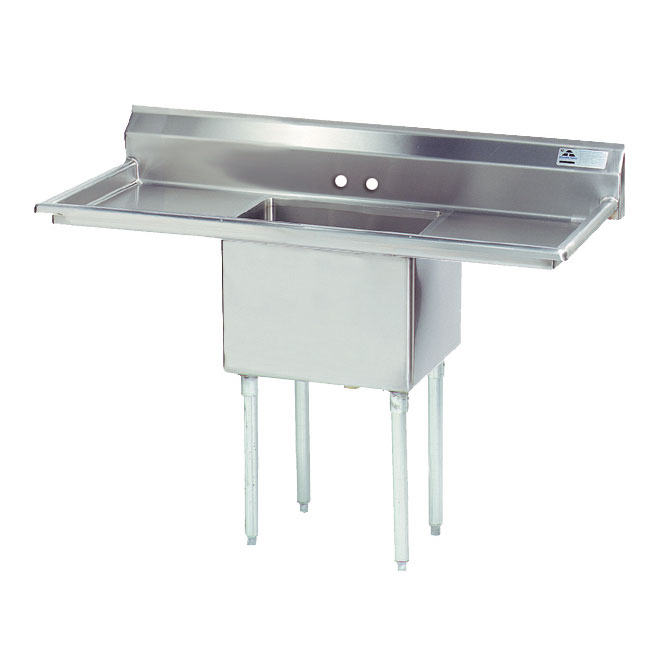 "Advance Tabco FE-1-1812-18RL-X 23"" 1-Compartment Sink w/ 18""L x 18""W Bowl, 12"" Deep"