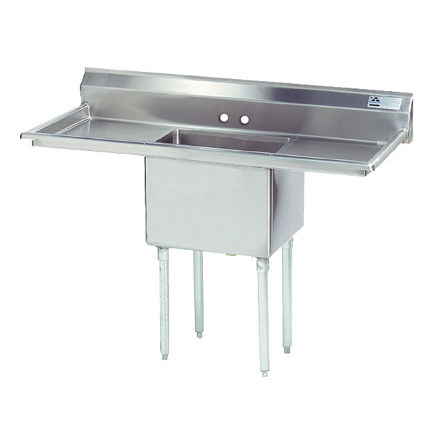 "Advance Tabco FE-1-1824-24RL 66"" 1-Compartment Sink w/ 18""L x 24""W Bowl, 14"" Deep"
