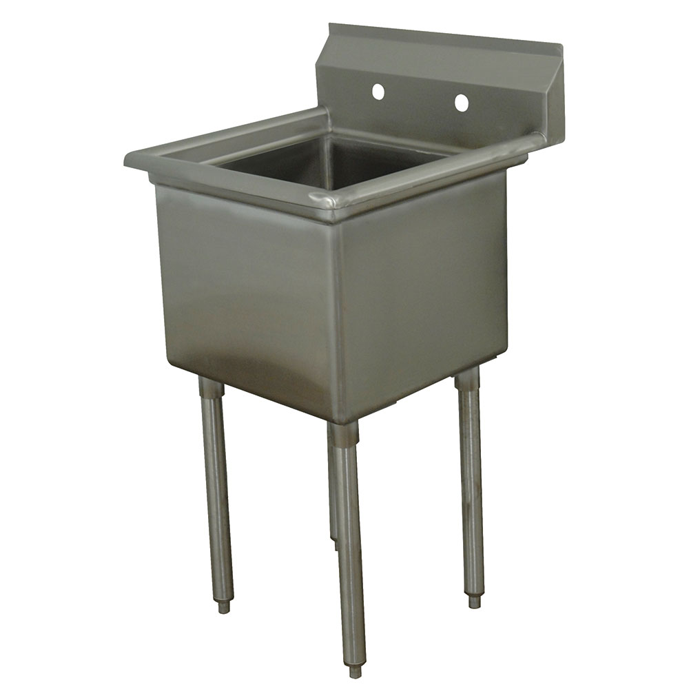 "Advance Tabco FE-1-2424-X 29"" 1-Compartment Sink w/ 24""L x 24""W Bowl, 14"" Deep"