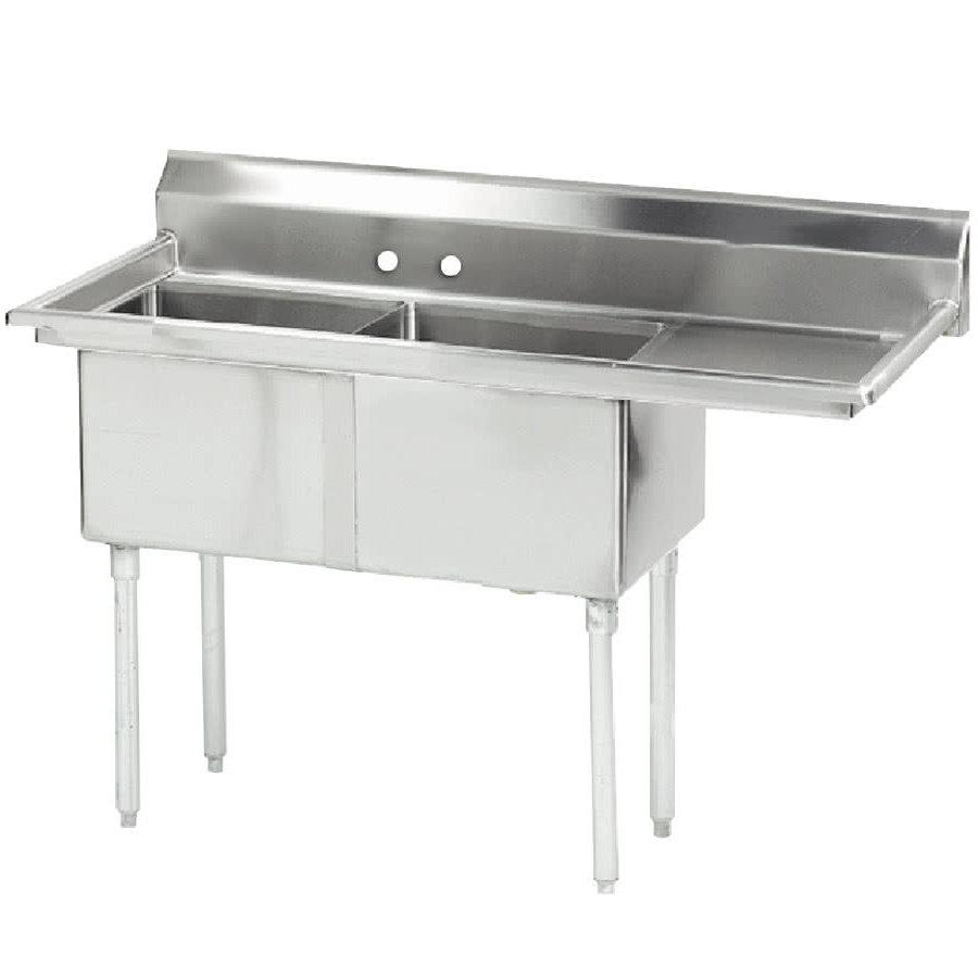 "Advance Tabco FE-2-1812-18R 2-Compartment Sink w/ 18""W x 18""L Bowl, 12"" Deep"