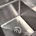 "Advance Tabco FE-3-1014-15RL-X 60"" 3-Compartment Sink w/ 10""L x 14""W Bowl, 10"" Deep"