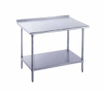 Advance Tabco FLG-3010 120-in Work Table, 14-Ga. Stainless Top w/ Turned Up Edge, 30-in W