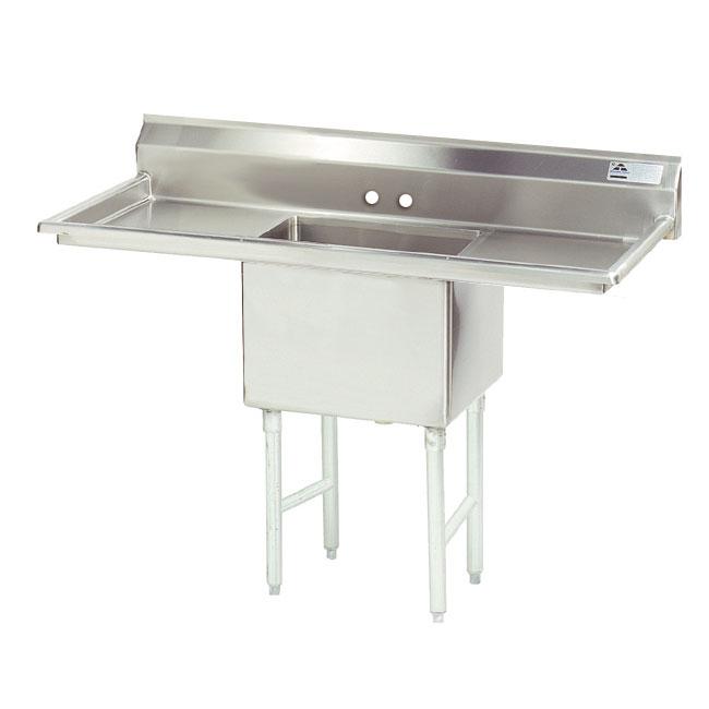 """Advance Tabco FS-1-1824-18RL 54"""" 1-Compartment Sink w/ 18""""L x 24""""W Bowl, 14"""" Deep"""
