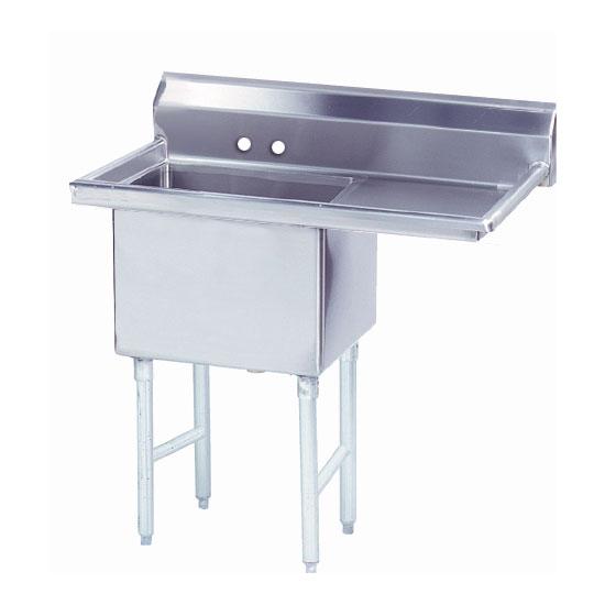 """Advance Tabco FS-1-3624-24R 62.5"""" 1-Compartment Sink w/ 36""""L x 24""""W Bowl, 14"""" Deep"""