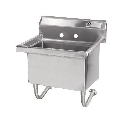 "Advance Tabco FS-WM-2219 Wall Mount Commercial Hand Sink w/ 23""L x 19.5""W x 10""D Bowl, Basket Drain"