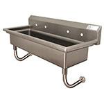 "Advance Tabco FS-WM-60 Wall Mount Commercial Hand Sink w/ 60""L x 14""W x 8""D Bowl, Basket Drain"