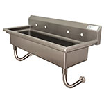 "Advance Tabco FS-WM-96 Wall Mount Commercial Hand Sink w/ 96""L x 14""W x 8""D Bowl, Basket Drain"
