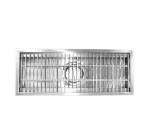 Advance Tabco FTG-2430 Floor Trough, 24 x 30 x 4 D, SS 3/16 x 1 in Bars, 4 in O.D, 3 in L Waste Pipe