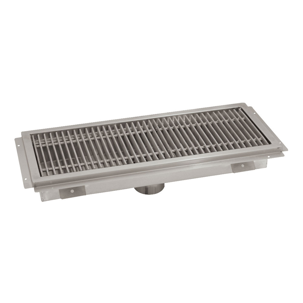 """Advance Tabco FTG-2424 Floor Trough - Removable Strainer Basket, 24x24x4"""", 14-ga 304-Stainless"""