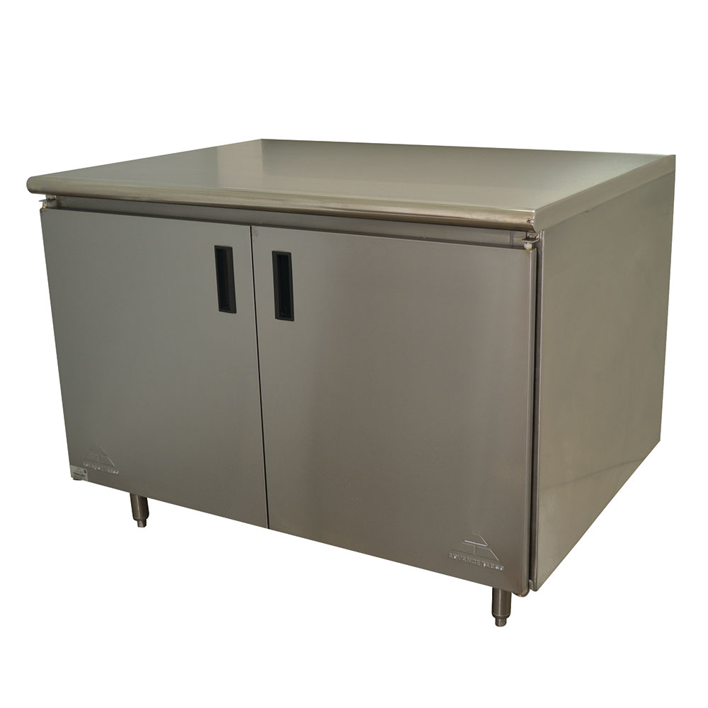 """Advance Tabco HB-SS-304 48"""" Enclosed Work Table w/ Swing Doors, 30""""D"""