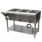 "Advance Tabco HF-3E-240 47.13"" Steamtable Hot Food Unit w/ (3) Wells & Carving Board, 208-240v/1ph"