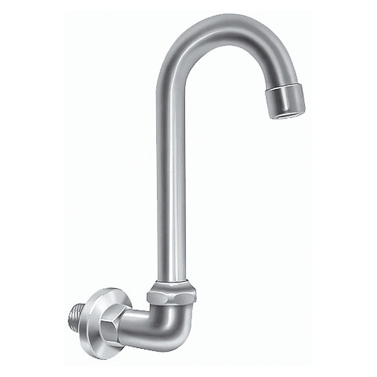 Advance Tabco K121 Faucet, Splash-Mount, Gooseneck, (Requires Mixing Valves)