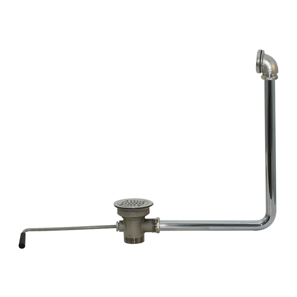 "Advance Tabco K-15 Drain, Lever Operated - Built"" Overflow, 2"" IPS"