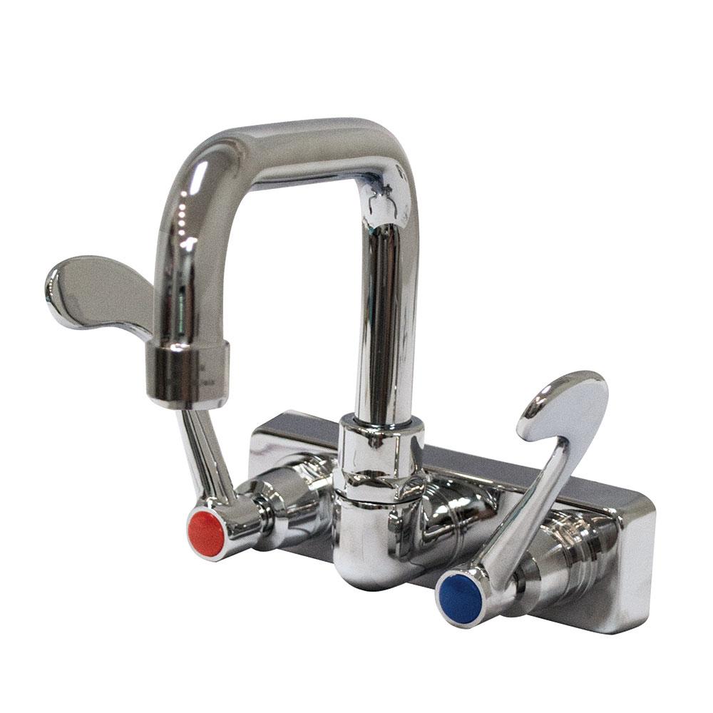 """Advance Tabco K-206 Splash Mount Faucet - Wrist Handles, 4"""" On-Center"""