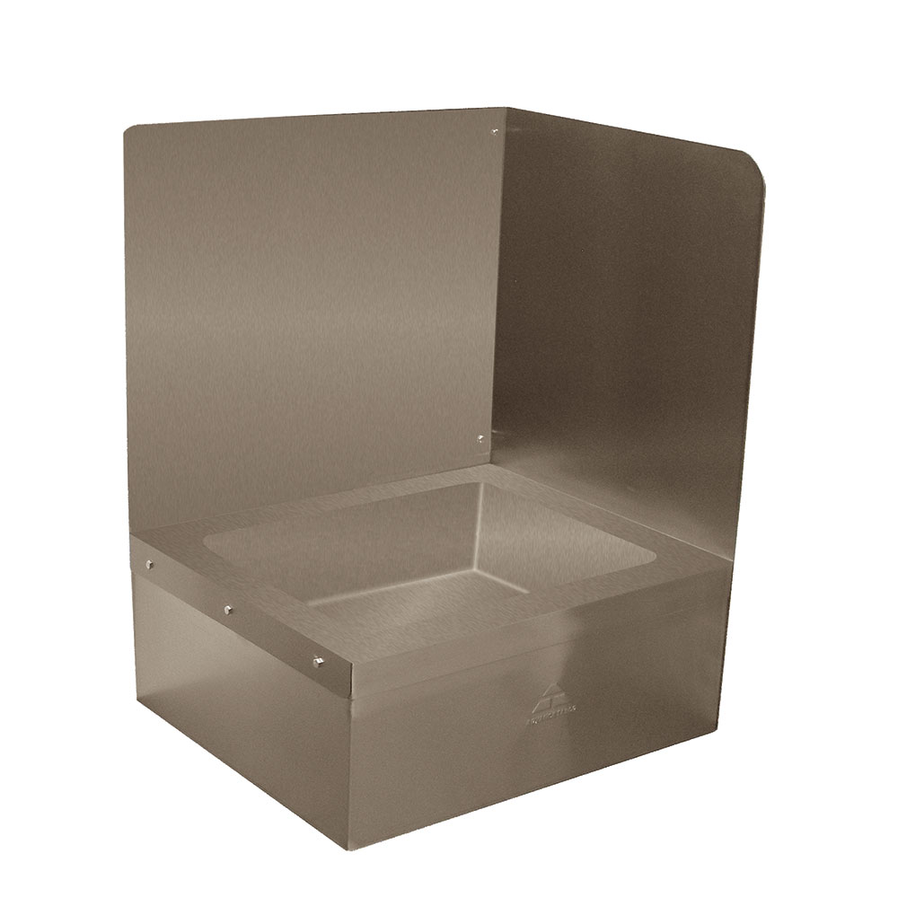 "Advance Tabco K-288R Right Side for 9OP20/40 Mop Sink, Backsplash, Extends 16"" Above The Sink"