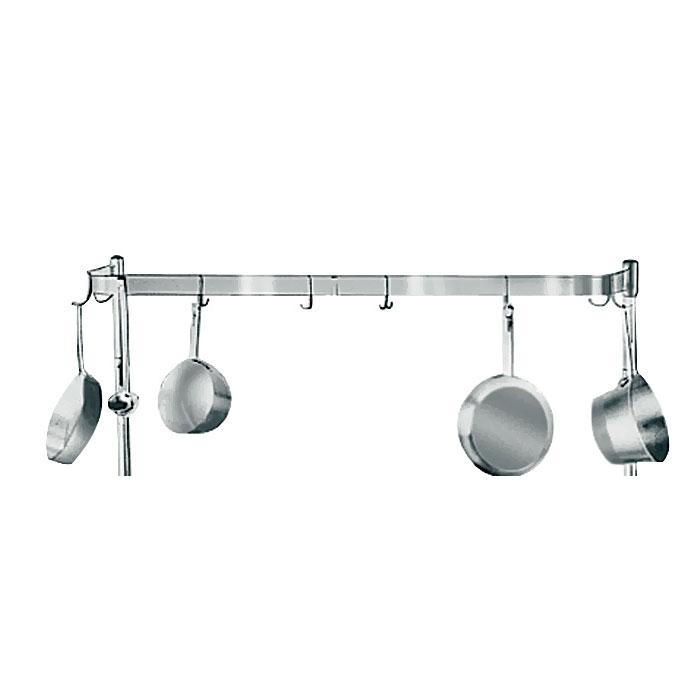 Advance Tabco K-499 Pot Rack w/ Double Hooks - Per Linear Foot, Stainless Steel