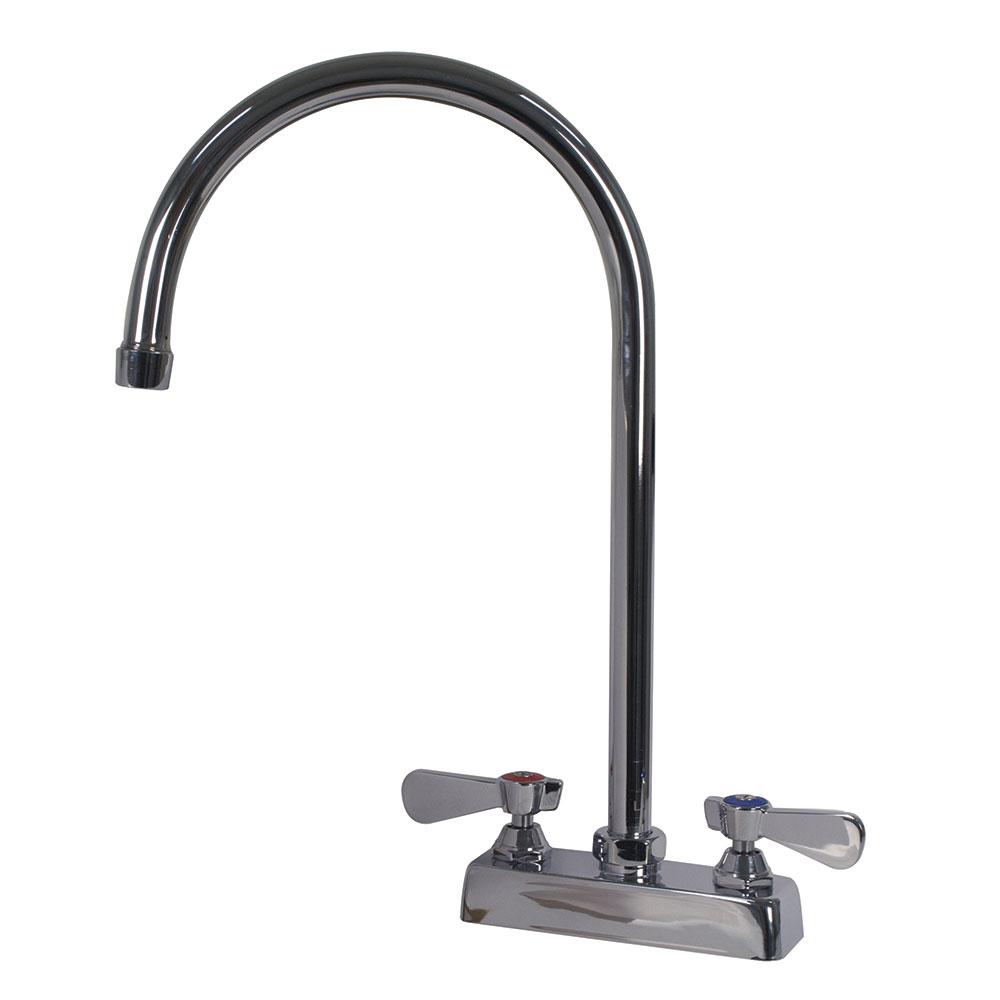 """Advance Tabco K-55 Gooseneck Faucet, Deck Mount, Large 8-1/2"""" Spout, 4"""" Center"""