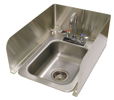 Advance Tabco K-614-X 3-Sided Splash Stainless 8-in H For Counter Mount Drop-In Sink Restaurant Supply