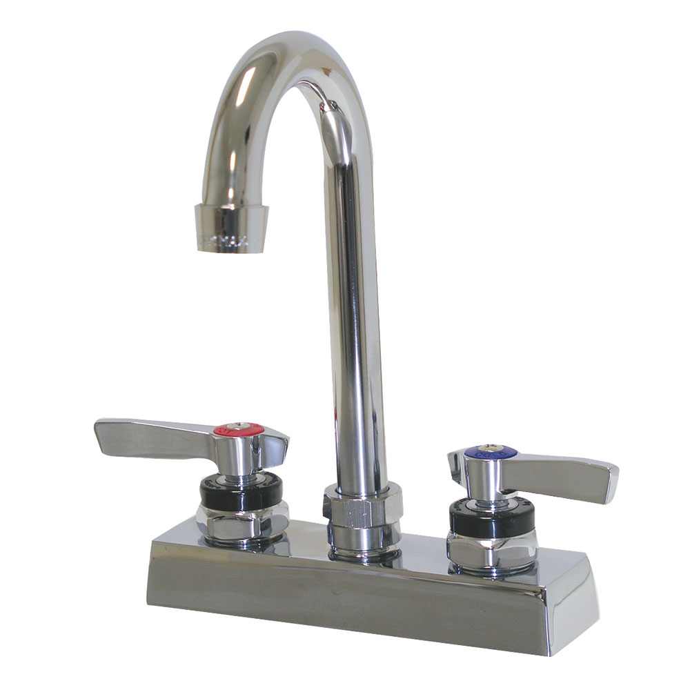 "Advance Tabco K-62 Gooseneck Faucet, Extra Heavy Duty, 4"" Center"