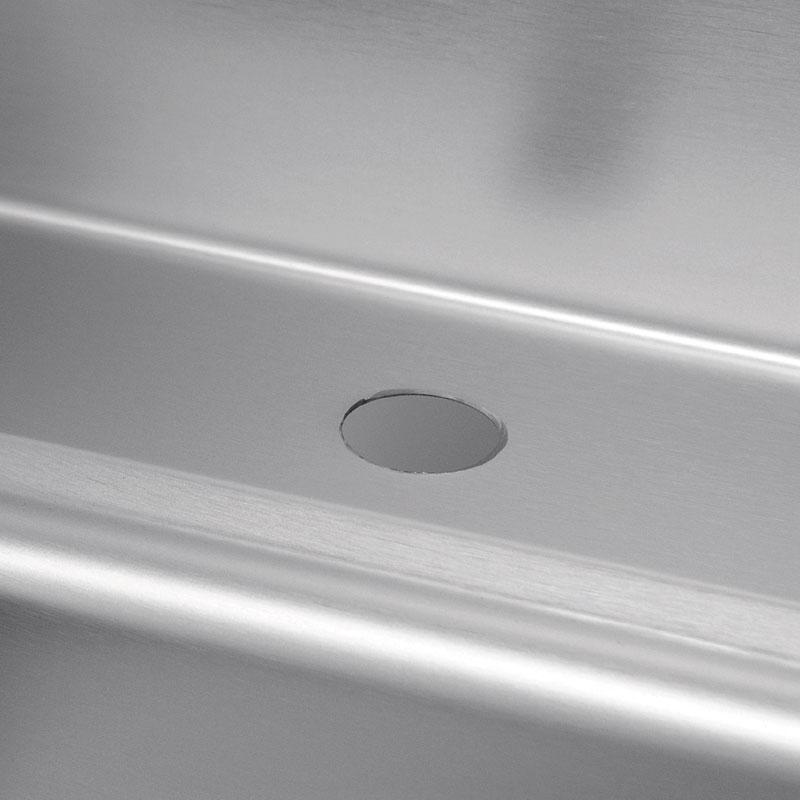 Advance Tabco K-71 Faucet Hole for Deck Mount Faucet